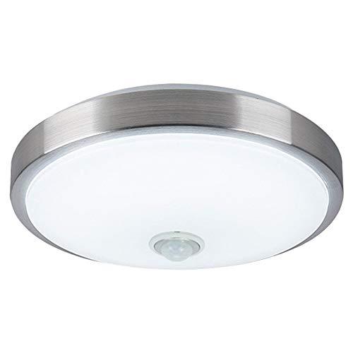 ZHMA Sensor de movimiento Sensor de cuerpo de lámpara de techo de 18 vatios, Lámpara de techo de montaje empotrado, Detección automática de movimiento, 1440Lm, Luz nocturna LED para Pasillo, Garaje
