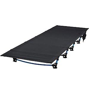 ロベンズナオミ キャンプコット アウトドア 折り畳みベッド 軽量 コンパクト 簡易ベッド サイドポケット付 ローコット(190×70×17cm)