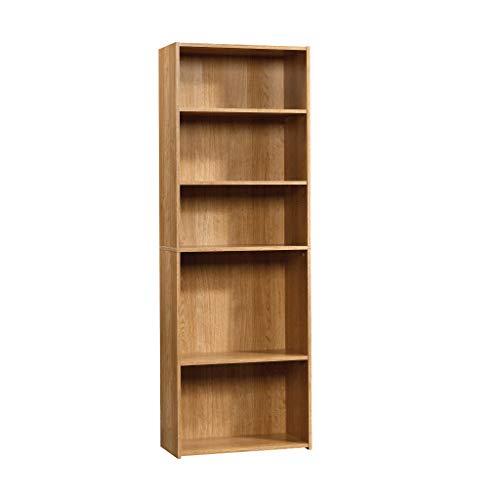 Sauder Beginnings 5-Shelf Bookcase, Highland Oak Finish
