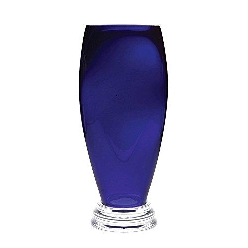 BARSKI–Handgefertigtes Glas–Fuß rund Vase–Cobalt–30,5cm H (30,5cm hohen)–Hervorragende Qualität–Made in Europe