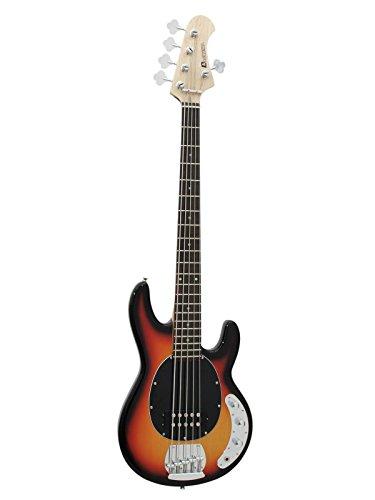 Dimavery Elektrische Bassgitarre mit 5 Saiten, Sunburst, Mehrfarbig, Einheitsgröße