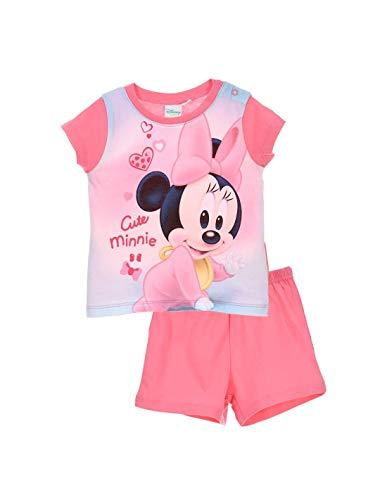 Minnie Pyjama Court Coton bébé Fille Rose de 9 à 24mois - Rose foncé, 24 Mois