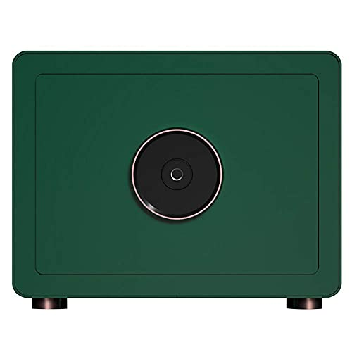 Caja fuerte de seguridad para huellas dactilares, todo material de acero, alarma doble, marco de puerta con micro hendidura, absorción de impactos y a prueba de humedad, perforable sin costuras, pern