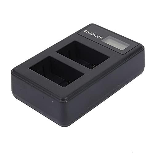 ROMACK Cargador de batería Cargador de batería Compatible con Lector de Tarjetas, para NP-FW50