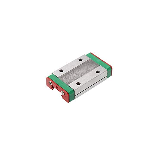 SANKUAI MGN15H 300 350 400 450 500 600mm Miniature Linear Rail Slide 1Cnc Linear Guide+1 Linear Bearing SS Carriage (Color : MGN15H, Size : Only MGN15H)