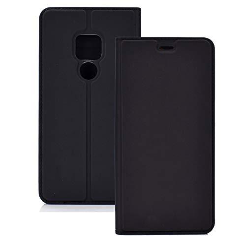 ZTH Funda Magnetic TPU + PU Magnetic TPU + PU para Huawei Mate 20, con Ranura para Tarjeta y Soporte (Negro) (Color : Black)