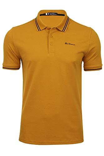 Ben Sherman Herren Poloshirt Kurzarm (Gold) S