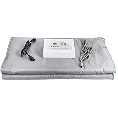 ixaer Far-Infrared Sauna Blanket, Thermal Body Slimming Sauna Blanket Heating Therapy Slim Bag SPA Weight Loss Body Detox Machine,Shipping from US