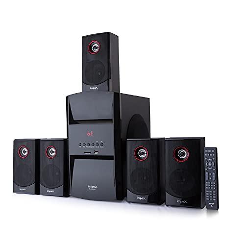 Impex 5.1 Blue Rock-Plus 140 W Multimedia Bluetooth Speaker System with FM/SD/USB/MMC/Remote...