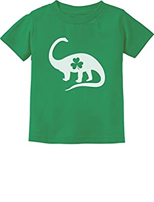 Irish Dinosaur Clover St. Patrick's Day Gift Toddler Infant Kids T-Shirt 3T Green