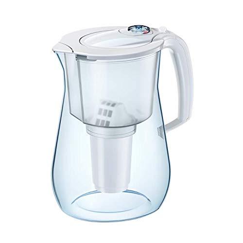 AQUAPHOR Provence, weiß, inkl. 1 A5 Mg Filterkartusche-Premium-Wasserfilter in Glasoptik gegen Kalk, Chlor & reichert das Wasser mit Magnesium an, Kunststoff, 4,2 l