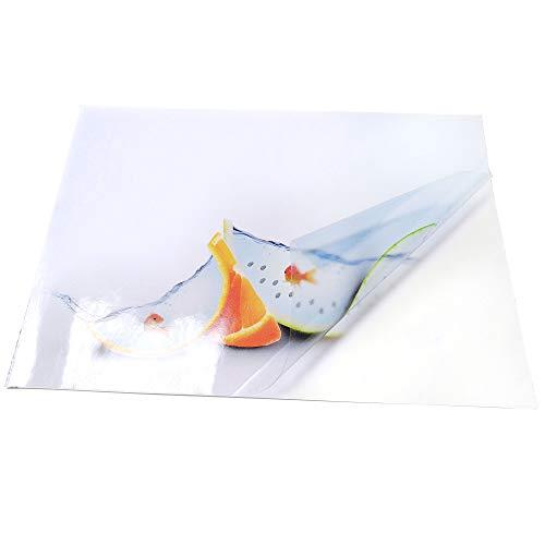 Kesheng Lot de 20 autocollants vierges en papier mat 80 g//m/² pour imprimante laser jet dencre