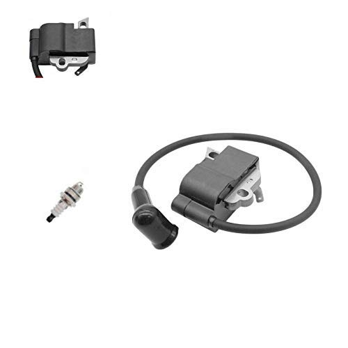 PARTSRUN #1141 400 1302 New Ignition Coil with BM6A Spark Plug (Spade Connector) for Stihl MS261 MS261C Without M-Tronic ZF150-HHS