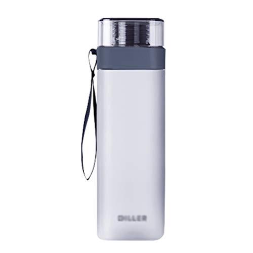 ZYS Práctica Botella de Agua Botella Deportes Agua 400ml / 550ml / 700ML Botella Grande Potable Libre de BPA a Prueba de Fugas Deportes Frasco Ideal for Deportes Running Senderismo Regalo Ideal