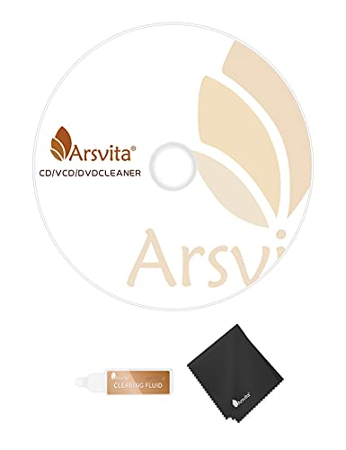 Arsvita Laser Lens Cleaner Disc Cleaning Set for CD / VCD / DVD Player, Safe and Effective, ARCD-02