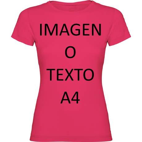 YISAMA Camisetas Personalizadas Dama. T-Shirts para Regalos Restaurantes, Eventos, Empresas, Uniformes (Rosa, Medium)