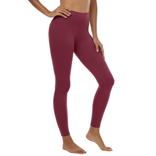 QTJY Leggings sin Costuras, Leggings de Cintura Alta con Levantamiento de Cadera, Ejercicio de Push-up, Fitness para Mujer, Pantalones de Yoga para Correr C Medio