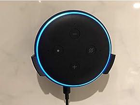 Suporte Splin de Parede para Echo Dot 3 Amazon com fixação por fita dupla face (preto)