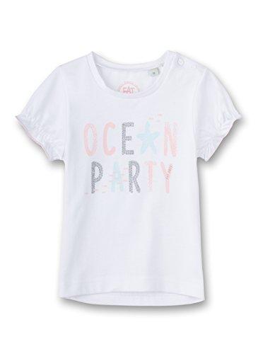 Sanetta - T-Shirt - Manches Courtes - Bébé (Fille) 0 à 24 Mois - Blanc - 3 Mois