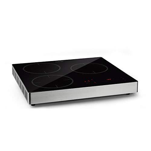 Klarstein TrinityCook - Induktionskochplatte, freistehend, 3400 Watt, Touch Control, 3 Kochzonen, Timer, 9 Stufen, 60 bis 240 °C, Überhitzungsschutz, Kindersicherung, schwarz