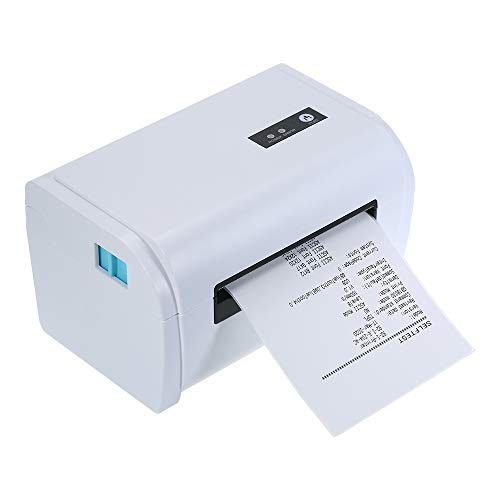 Entweg Label Printer,110Mm Shipping Label Printer with Stand USB Cable High Speed Direct Thermal Printer Receipt Label Maker Sticker Compatible with Windows & Mac