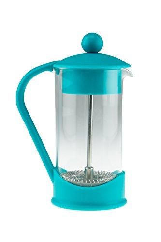 Clever Chef - Cafetera de Prensa Francesa - Café con un Gran Sabor y una filtración inmejorable - Pequeña - Turquesa - Capacidad para 2 Tazas (0,4 litros)