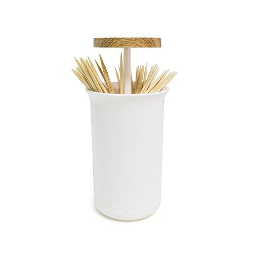 BalviPalilleroPush&UpColorBlancoDispensadordePalillosMadera/plástico