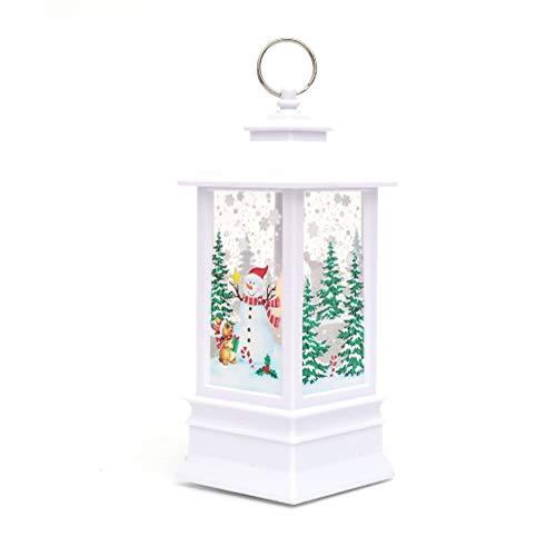 CLHCilihu Julstjärna LED-mönster vindljus, batteridriven julbelysning med hängande ring för inomhus utomhus trädgårdsdekoration, vitälg