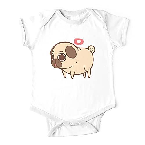 Huang Puglie Pug Baby Body de una pieza para bebé