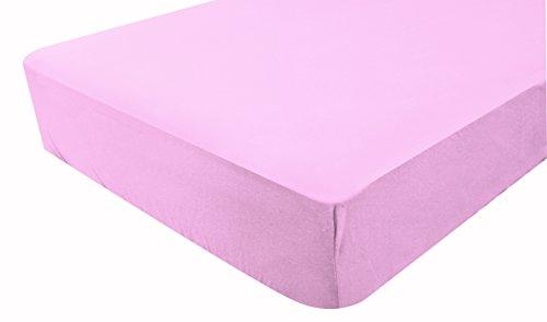 PMP-Sábana bajera ajustable, algodón tratado Peingé antiácaros con tratamiento Aegis, 70 x 140 cm, color rosa