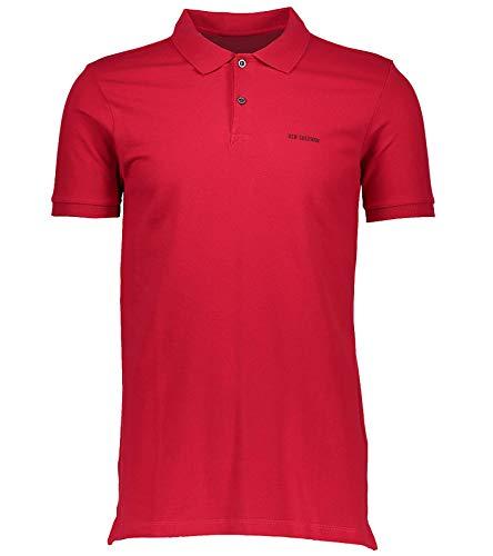 Ben Sherman Polo-Hemd bequemes Polo-Shirt für Herren T-Shirt Kurzarm-Shirt Freizeit-Shirt Rot, Größe:XS