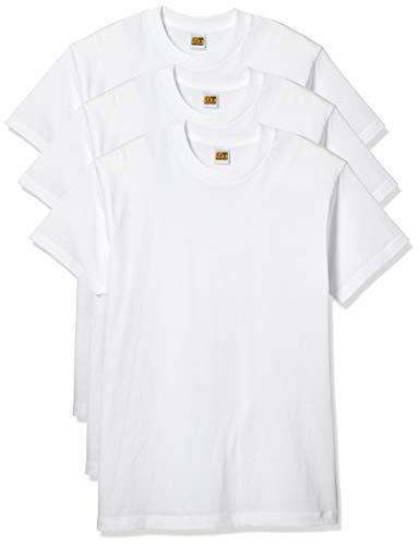 [グンゼ] インナーシャツ G.T. HAWKINS T-SHIRT 3枚組 天竺 HK15133 メンズ ホワイト 日本M (日本サイズM相当)