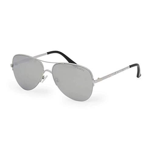 Guess Damen GF6079-5810C Sonnenbrille, Silber, 58/15/135