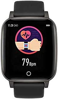 indigi R3 - Monitor de Actividad física y frecuencia cardíaca de Reloj Inteligente, Monitor de presión Arterial/oxígeno, podómetro, notificaciones de presión (SMS)