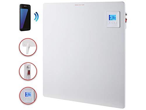 DMS Infrarotheizung 550 Watt | Wandheizung mit App-Funktion | Heizkörper mit LCD-Display und digitalem Timer | Heizpaneel | Standfüße | (80 x 60 x 1 cm)