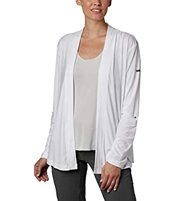 Columbia Women's Essential Elements Cardigan, Moisture Wicking, Sun Protection, White, Medium from Columbia