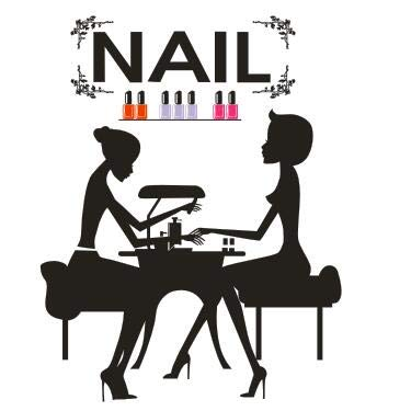 mlpnko Nagelstudio Nagel Wandaufkleber Frau Nagel Maniküre Shop Beauty Salon Nagel Wandaufkleber Nagel Schaufenster Glas Dekoration 108x84cm