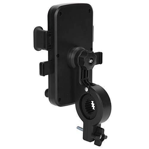 Jopwkuin Tenedor del Teléfono De La Bicicleta, Soporte 360 ° del Teléfono De La Bici Giratorio para Las Motocicletas para Los Cochecitos