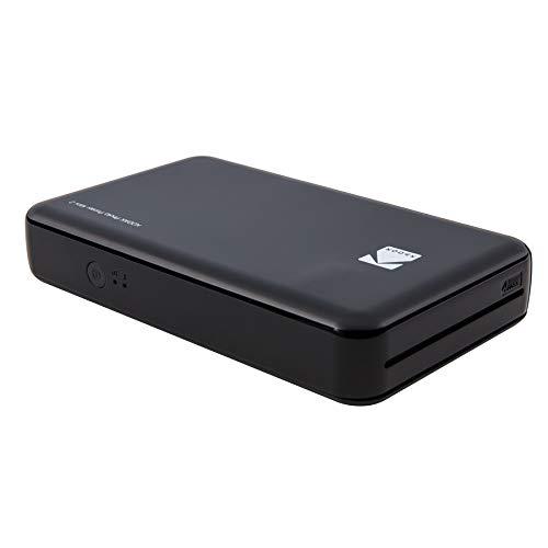 Kodak - Impresora fotográfica mini 2HD, instantánea, inalámbrica y portátil, con tecnología de impresión patentada 4Pass,compatible con iOS y Android, negro