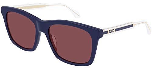 Gucci Occhiali da sole GG0558S 005 occhiali Uomo colore Blu lente rosso taglia 56 mm