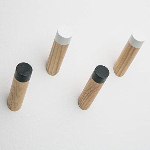 Modern Coat Hooks Decorative 3' Wall Mounted - Hat Hanger Towel Rack Natural Wood Rustic Hooks...