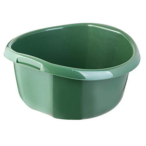 KADAX Runde Kunststoffschüssel. Becken tief und robust. Schüssel, Waschschüssel, Spülwanne Groß Eignet Sich hervorragend für das Badezimmer, den Waschraum, die Küche und das Haus (Dunkelgrün, 10L)