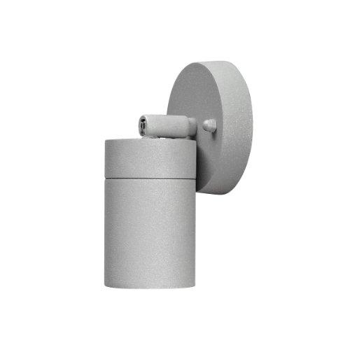 Konstsmide Modena 7598-300 Wandleuchte Wandspot schwenkbar B: 9cm T: 8cm H: 10,5cm / 1x35W / IP44 / lackiertes Aluminium / grau