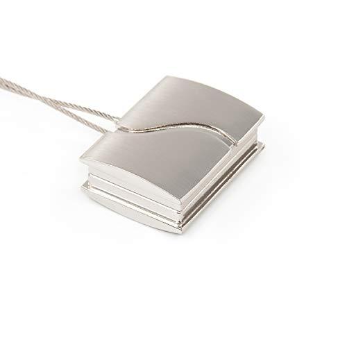 Gcurtain Quadrat Magnetische Vorhang Raffhalter Vorhang Clips, 2 Stück Vorhanghalter Magnet für große, breite oder Dicke Fenstervorhänge- 2er-Set (15.75 Zoll lang), Nickel Gebürstet