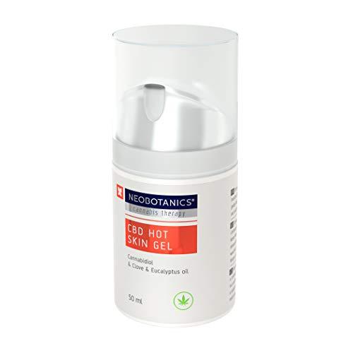 NEOBOTANICS® Nano CBD Hot Skin Schmerzgel. Wärmendes CBD Gelenk- und Muskelgel mit dem Wirkstoff Cannabidiol bei Gelenk- und Muskelschmerzen, Verspannungen im Rücken-, Nacken- und Schulterbereich