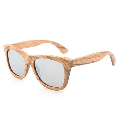 Gafas de Sol Gafas De Sol Retro De Madera Gafas De Sol Polarizadas con Película De Color protección para los Ojos (Color : A)