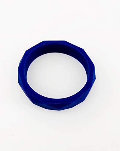Kleurrijke Montessori Teething kauwbare mama armband. Hoogwaardig product. marineblauw