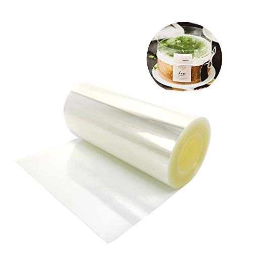 Cake Decorating,Cake Collars 4 x 394 inch, Acetate Rolls, Clear Cake Strips, Transparent Cake Rolls, Mousse Cake Acetate Sheets for Chocolate Mousse Baking Decorate