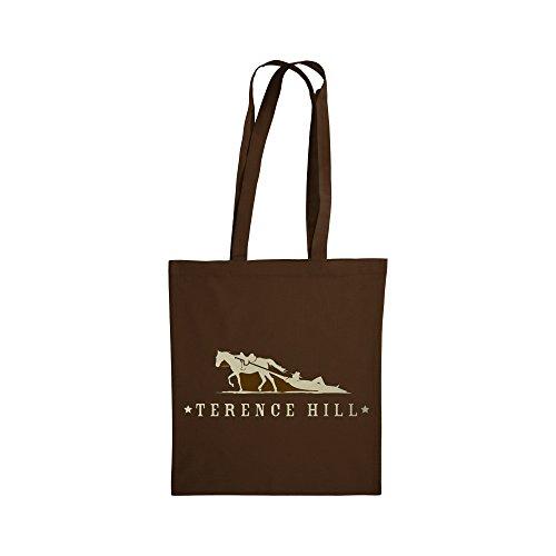 Terence Hill Bud Spencer Tasche Bag Beutel Baumwolltasche (braun) (38x42cm)