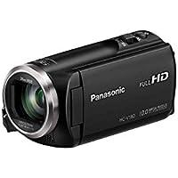 Panasonic HC-V180 - Videocámara de 50x, O.I.S de 5 Ejes, F1.8 - F4.2, Zoom 28 mm - 174 mm, HD, SD, Time - Lapse, Zoom 90x Inteligente, Color Negro